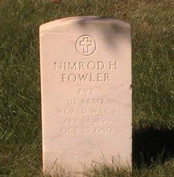 Pvt Nimrod H. Fowler