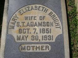 Mary Elizabeth <i>Bright</i> Adamson