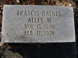 Francis Haynes Alley, II