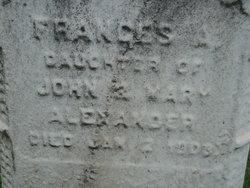 Frances Ann Fannie Alexander