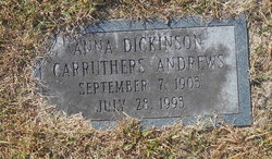 Anna Dickerson <i>Carruthers</i> Andrews