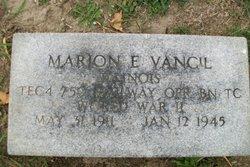 Sgt Marion E. Vancil