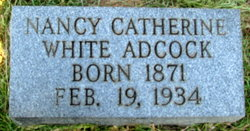Nancy Catherine <i>White</i> Adcock