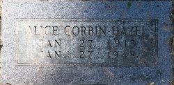 Alice <i>Corbin</i> Hazel