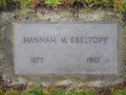 Johanna Marie Hannah <i>Anderson</i> Ebeltoft