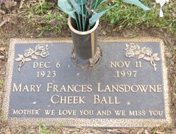 Mary Frances <i>Lansdowne</i> Ball