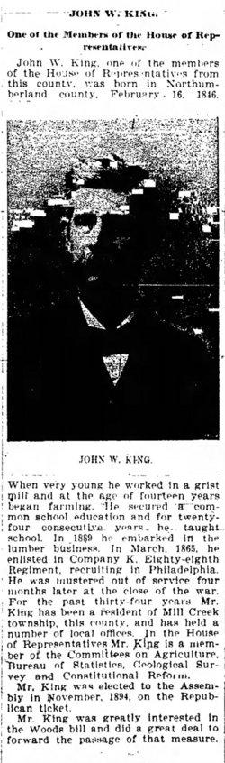 John W King