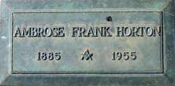 Ambrose Frank Horton