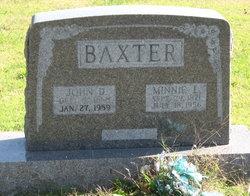 Minnie L <i>Thompson</i> Baxter