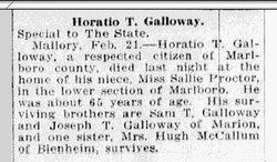 Horatio T Galloway