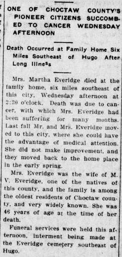 Minta L Martha <i>Goswick</i> Everidge