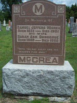 Sarah Ann <i>Donoghue</i> McCrea