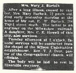 Mary Jane <i>Childs</i> Burlock
