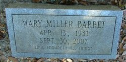 Mary Bobby <i>Miller</i> Barret