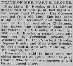 Mary Elizabeth <i>Benthall</i> Brooks
