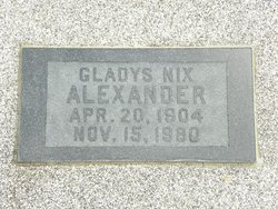 Gladys <i>Nix</i> Alexander