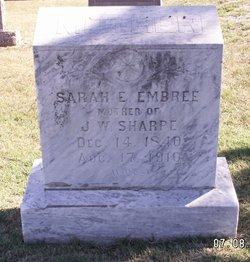 Sarah Elizabeth <i>Vowell</i> Embree