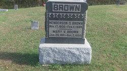 Mary V <i>Brown</i> Brown