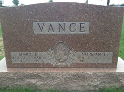 Mary Elizabeth <i>Hinshaw</i> Vance