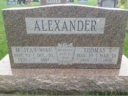 M Jean <i>Webb</i> Alexander