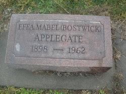 Effa Mabel Mabel <i>Bostwick</i> Applegate