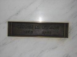 Carrie M <i>Barrows</i> Wilson