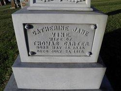 Catherine Jane <i>Vine</i> Carter
