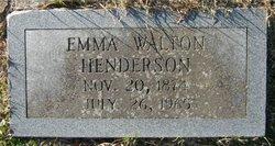 Emma <i>Walton</i> Henderson