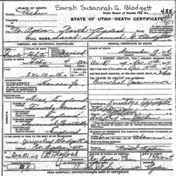 Sarah Susannah <i>Garrard</i> Blodgett
