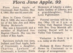 Flora Jane <i>McAninch</i> Apple