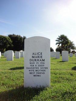 Alice Marie <i>Webb</i> Durham