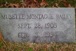 Musette Latney <i>Montague</i> Bailey