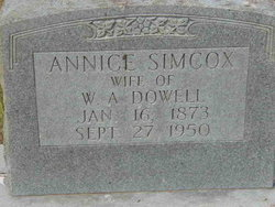 Cordelia Annice <i>Simcox</i> Dowell