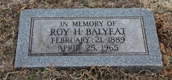 Roy H Balyeat