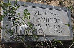 Allie Mae <i>Freeman</i> Hamilton