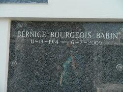 Bernice <i>Bourgeois</i> Babin