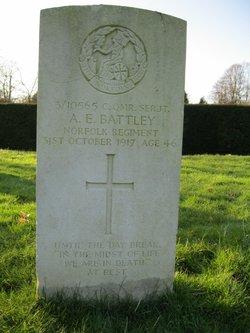 Company Quartermaster Serjeant Alfred Ernest Battley