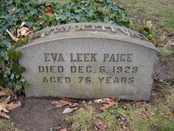 Eva Bell <i>Leek</i> Paige