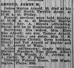 James Marion Jimmie Arnold