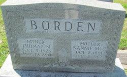 Nannie <i>McCue</i> Borden