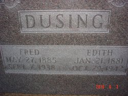 Edith Adelaide Ada <i>Wolber</i> Dusing