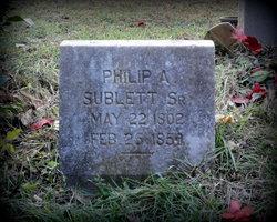 Col Philip Allen Sublett, Sr