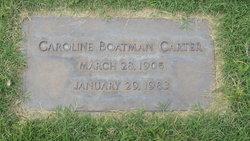 Caroline Elizabeth <i>Boatman</i> Carter