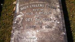 Mary Evalena <i>Vinson</i> Peach