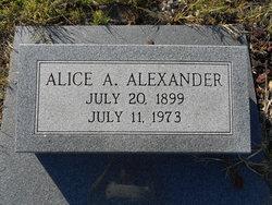 Alice A. Alexander