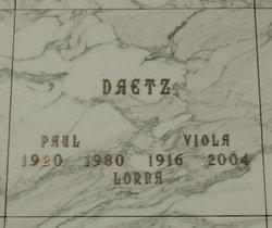 Viola A <i>Ording</i> Daetz