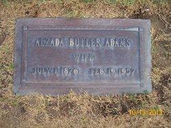Alzada Elizabeth <i>Butler</i> Adams