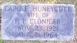 Carole <i>Huneycutt</i> Cloniger