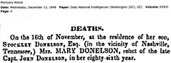 Mary <i>Purnell</i> Donelson