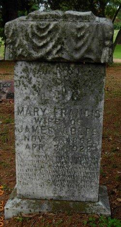Mary Francis Fannie <i>Tippett</i> Ables
